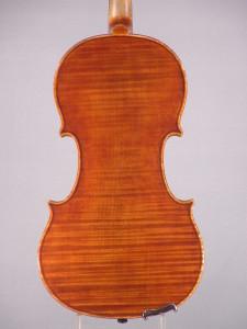 Archimedarchi violin, 2013 - Back - Antiqued Strad model