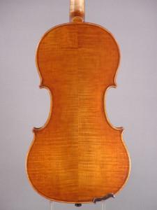 Archimedarchi violin, 2014 - Back - Antiqued Strad model