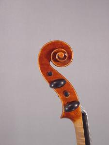 Archimedarchi violin, 2013 - Scroll - Antiqued Strad model